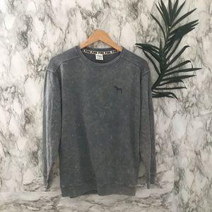 Pink gray sweater